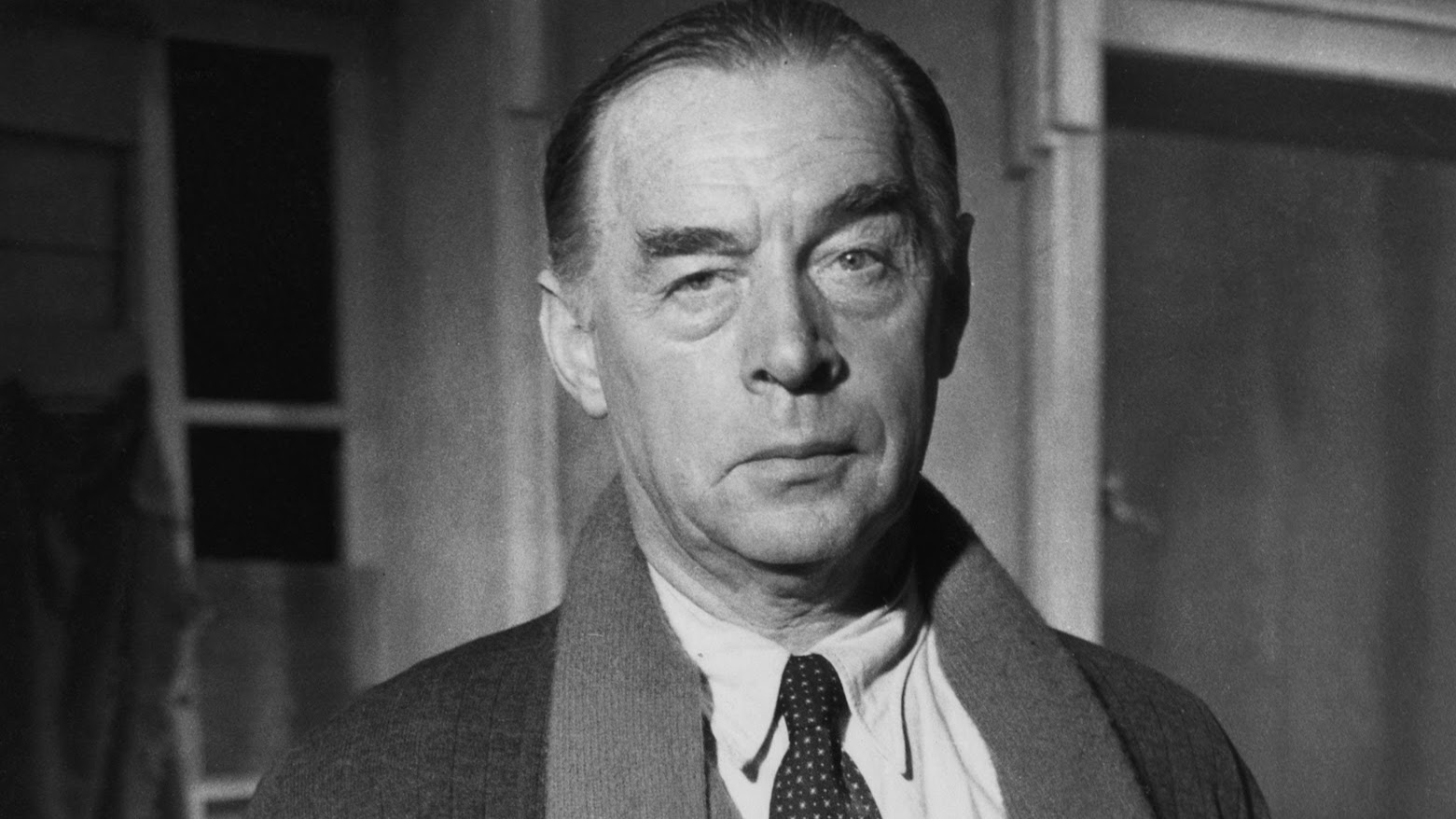 German writer Erich Maria Remarque (1898 - 1970), author of 'All Quiet On The Western Front,' stands on the set of the film, 'A Time To Love And A Time To Die,' October 1957. Remarque played a role in the film which was adapted from his novel and directed by Douglas Sirk. (Photo by Express Newspapers/Getty Images)