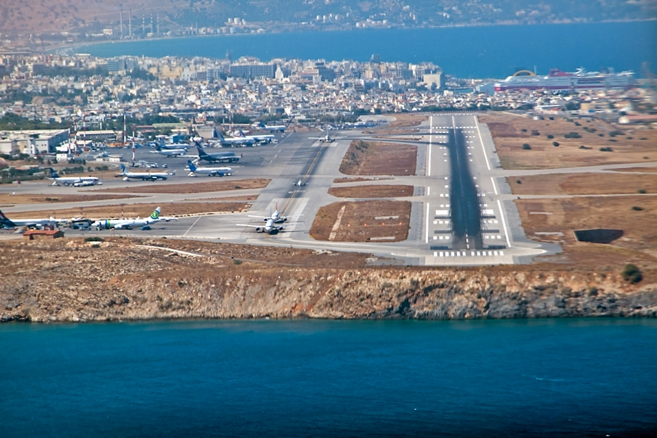 Crete-Airport-Landing-Greece